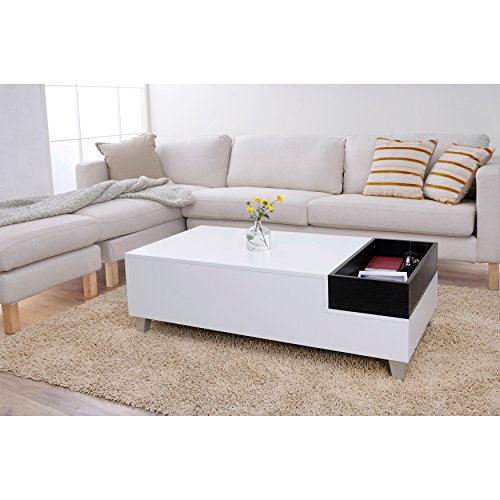 Safavieh Home Collection Bartholomew Mid Century Modern White And Grey Lacquer Coffee Table