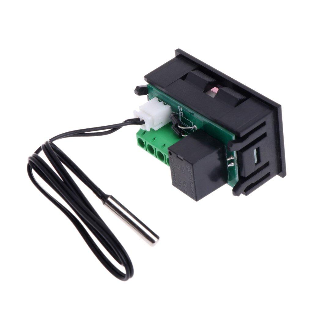 Haia7/K4/k W1218/Thermostat num/érique DC 12/V contr/ôleur de temp/érature pour incubateur W//sonde Rouge