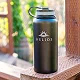 Helios Insulated Wide Mouth Stainless Steel Water Hydro Bottle, 32-Ounce Vacuum Insulated Flask Camping Hiking Sports Premium GUARANTEED