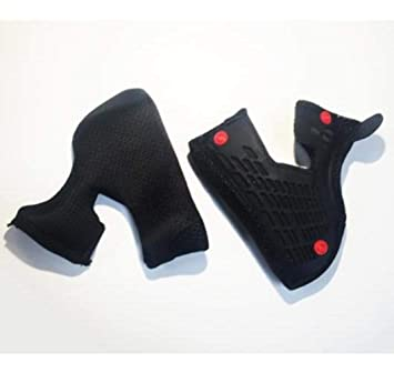 Fox Racing V4 casco almohadillas – 38 mm (2 x l), color negro
