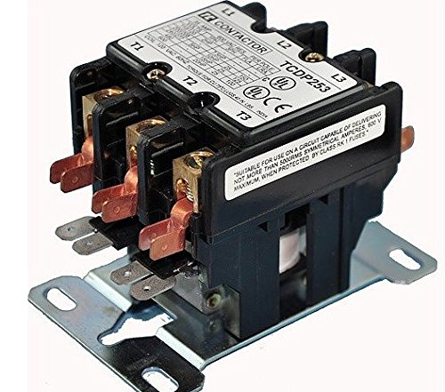 3 Poles Contactor for Air Conditioner, Various Amps And Voltages. For ac unit hvac. Relay Switch Replacement. (Volts: 208/240, Amp: 30)
