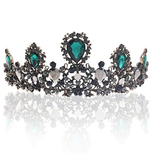 (Barogirl Wedding Crowns and Tiaras Queen Flower Crown Princess Bridal Vintage Rhinestone Headband for Brides and Bridesmaids)