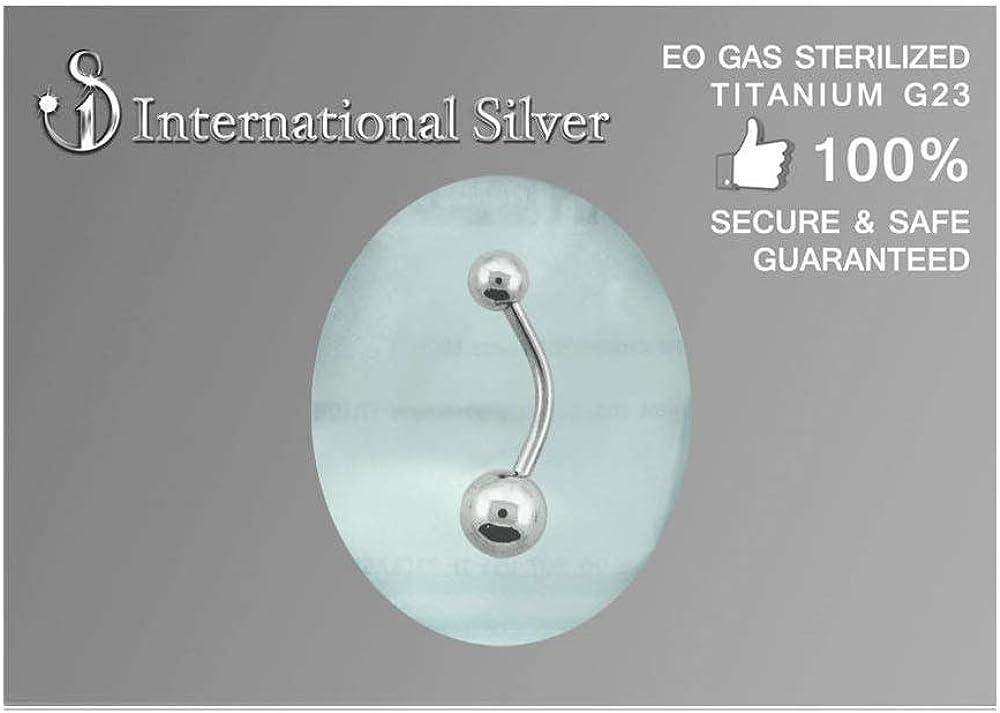 EO Gas Sterilized G23 Titanium Belly Button Ring