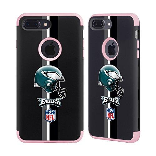 Official NFL Helmet Philadelphia Eagles Logo Light Pink Guardian Case for Apple iPhone 7 Plus / iPhone 8 Plus (Ultimate Helmet Philadelphia Eagles)