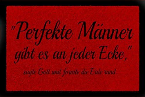Interluxe Fussmatte Turmatte Perfekte Manner Lustig Spruch Geschenk Fussabtreter 60x40 Cm Rot Amazon De Kuche Haushalt