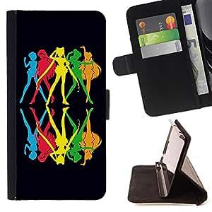 King Case - FOR HTC One M9 - the best way to spend it - Prima caja de la PU billetera de cuero con ranuras para tarjetas, efectivo Compartimiento desmontable y correa para la mu?eca