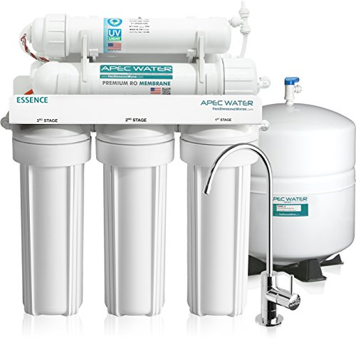 APEC Top Tier UV Sterilizer 75 GPD 6 Stage Ultra Safe Built in USA Reverse Osmosis Drinking Water Filter System (ESSENCE ROES-UV75) (Water Disinfection System compare prices)