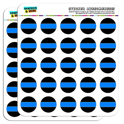 """Thin Blue Line 1"""" Scrapbooking Crafting Stickers"""
