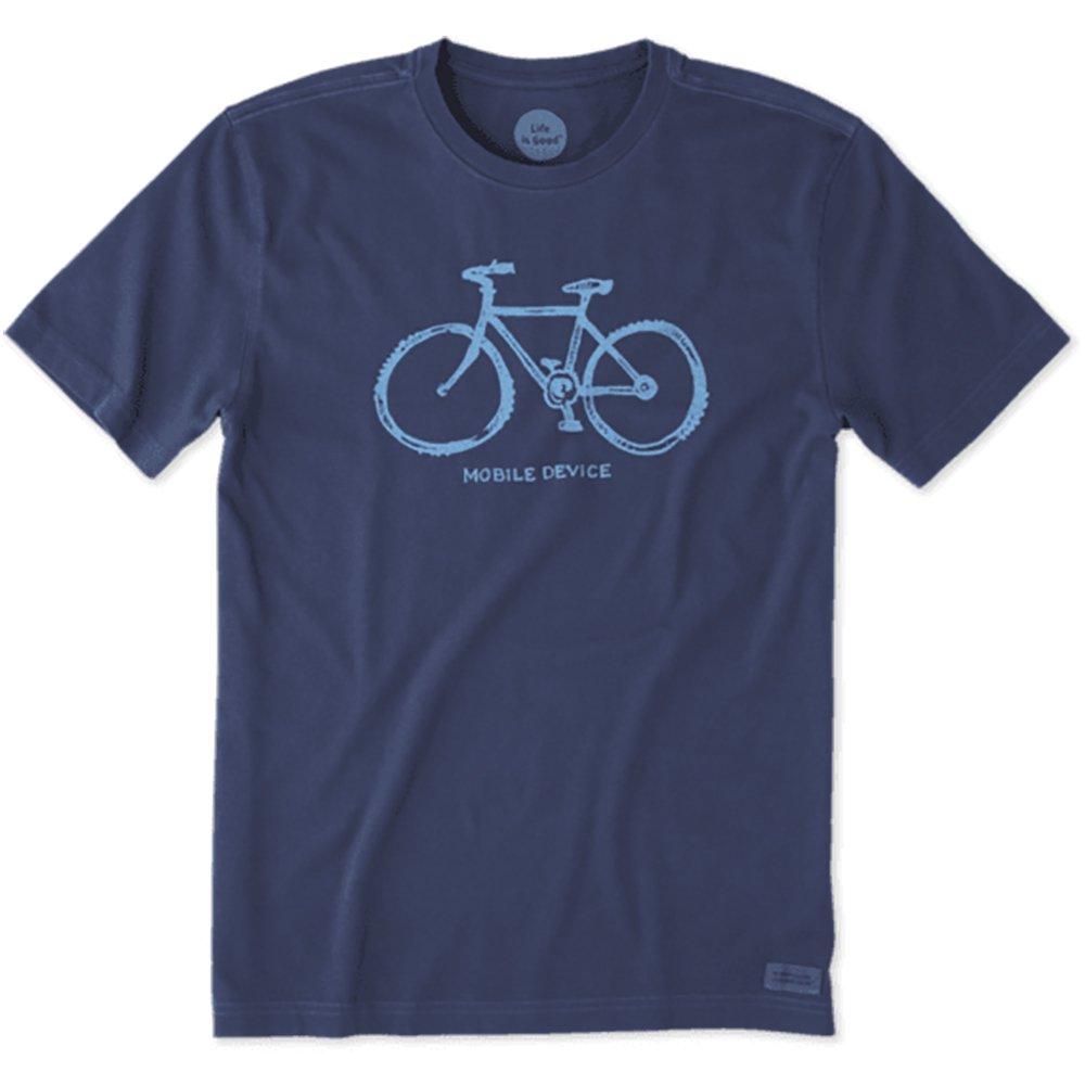 Life is Good Men's Mobile Device Bike Crusher T-Shirt, Darkest Blue, XL
