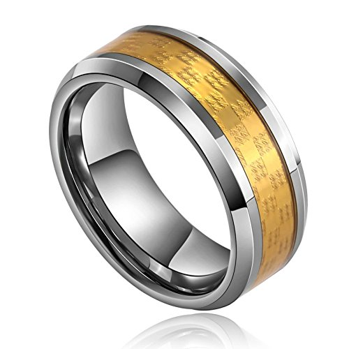 Aooaz 8Mm Inform on Rings Stainless Steel Ring Band Wedding Engagement Ring Silver Gold Size 8 Mens Ring