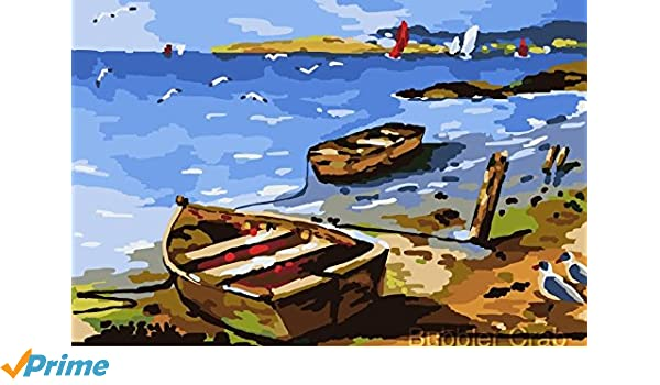Amazoncom Diy Oil Painting Lazy Summer 16x20 On Wooden Frame