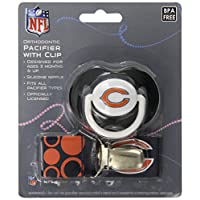 Baby Fanatic Pacifier with Clip, Chicago Bears