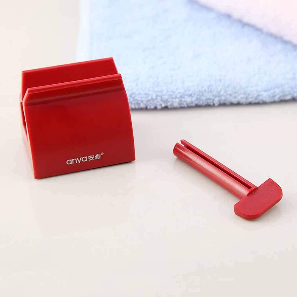 A Chezaa Toothpaste Squeezer Dispenser Toothpaste Holder Rolling Tube Stand Sets for Kids Family Washroom Bathroom Home Accessories