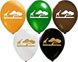 Safari Balloons | Colorful Latex Balloons (20-Count) Happy Birthday Party Or Event Use | Fill with Air Or Helium | Kid-Friendly