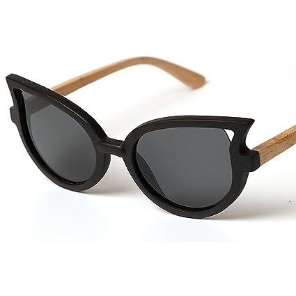 Marco de madera hecho a mano de clase alta gafas de sol polarizadas para las mujeres