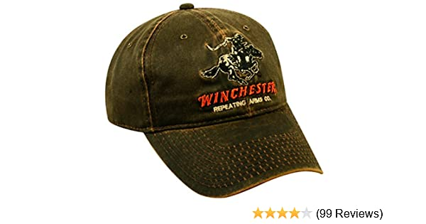 4359f021af Amazon.com   Outdoor Cap Weathered Cotton Winchester Cap   Baseball Caps    Sports   Outdoors