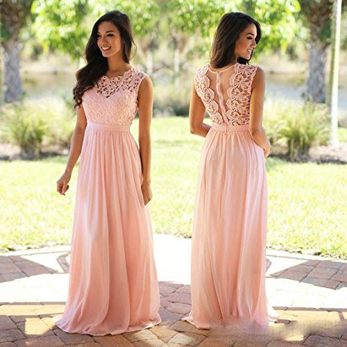 Dresses Wear Top Lace Dress Bridesmaid Blush Wedding Long Aokaixin Chiffon Guest 7TZw8qPXx