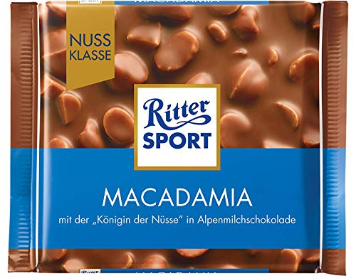 Ritter Sport Macadamia Chocolate Bar Candy Original German Chocolate 100g/3.52oz
