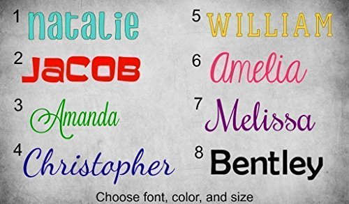 Name Word Decal Personalized Glitter product image