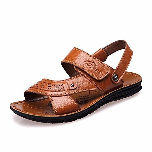 estate vera pelle sandali Uomini Spiaggia scarpa Uomini sandali Uomini scarpa traspirante Tempo libero scarpa Uomini tendenza ,gialloE,US=7,UK=6.5,EU=40,CN=40