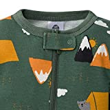 Gerber Baby Boys' 2-Pack Footed Pajamas, Green