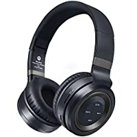 Bluetooth Headphones Over Ear,Foldable Hi-Fi Stereo Wireless Headset Included Card Reader Support Mic/TF Card and Wired Mode for PC/Cell Phones/TV