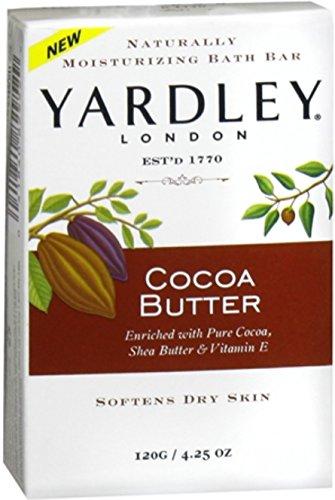 Yardley London Cocoa Butter Naturally Moisturizing Bath Bar, - Yardley Cocoa Butter Soap