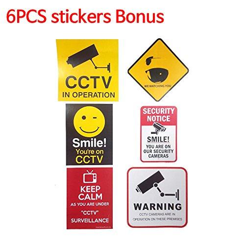 /& Bonus 2 Static Decals Security Video Camera Monitor CCTV System Sign Sale