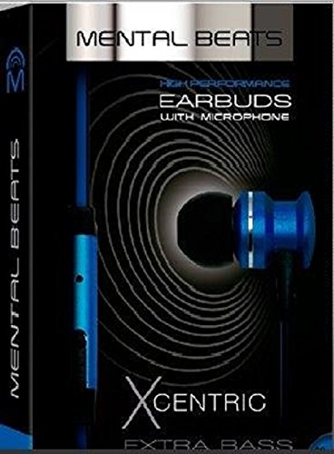 Mental Beats High Performance Xcentric Earbuds w/ Microphone - Blue