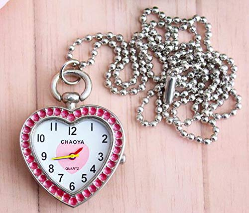 - Pocket Fob Watches - Chaoyada Luxury Fashion Heart Design Fob Diamond Crystal Pocket Watch With Necklace Chain Gift To - Watch Jewelry Luxury Locket Steampunk Cz Watch Watch Necklace Pocket