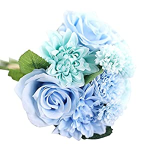 Artificial Silk Fake Flowers Leaf Rose Floral Wedding Bouquet Party Home Decor 38