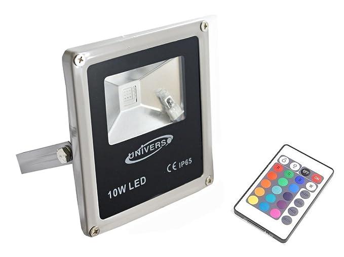 Faro led rgb slim watt con telecomando proiettore per