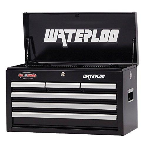 Waterloo 26 in. Black 6 Drawer Chest (Waterloo Black Tool Box)