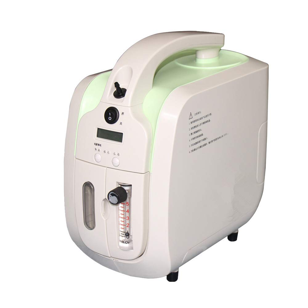 FACTO Oxygen Concentrator, 1-5L/min Adjustable Portable Oxygen Machine for Home and Travel Use, AC 110V Humidifiers - Green by FACTO