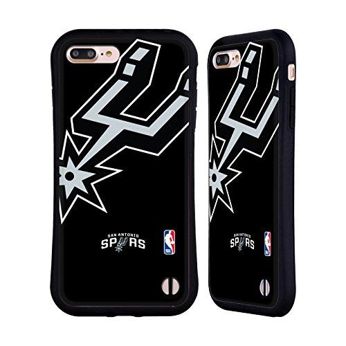 Official NBA Oversized Icon San Antonio Spurs Hybrid Case for Apple iPhone 7 Plus / 8 Plus - San Antonio Spurs Rubber