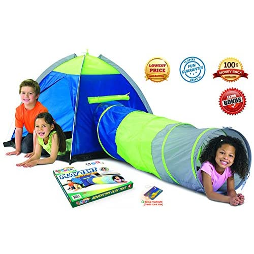 Adventure Play Tent with Tunnel and Bonus Flashlight by Toy Target | Tent for Kids with  sc 1 st  Ikon Suspension USA & Adventure Play Tent with Tunnel and Bonus Flashlight by Toy Target ...