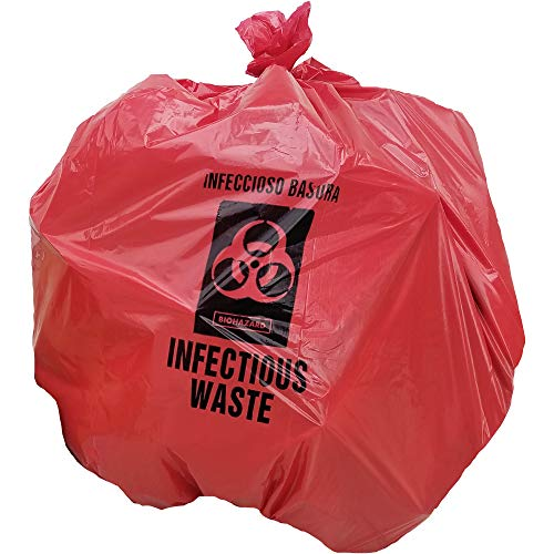 (Infectious Waste Trash Liner, Red with