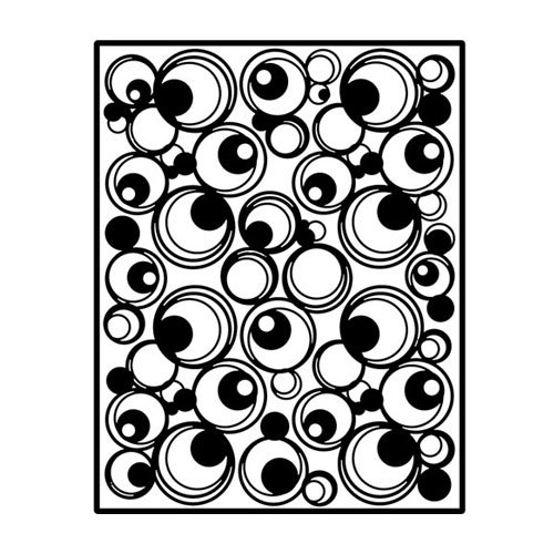 Spellbinders Impressabilities Template to Emboss/Deboss, Circles