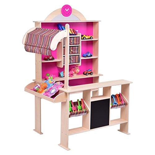 Pink Kids Wooden Toy Shop Market Shopping Pretend Play Set - By Choice Products by By Choice Products