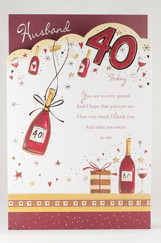 Husband 40th Birthday Card Amazoncouk Kitchen Home