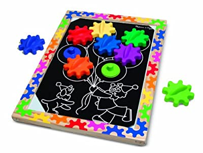 Melissa Doug Switch And Spin Magnetic Gear Board by Melissa & Doug