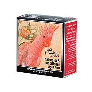 Light Mountain Natural Hair Color and Conditioner Light Red - 4 fl oz , Light Mountain , Hair Coloring, Health & Beauty