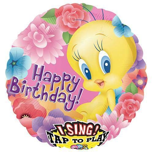 (Anagram 23492 Tweety Happy Birthday Sing-A-Tune Foil Balloon 28