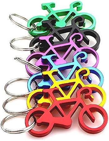 Lezed Abridor de Botellas para Bicicleta, Abridores con llavero de Botellas de Cerveza, Abrebotellas de Botella de la Bicicleta de Aluminio 10 Unidades, Color al azar