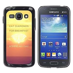 Paccase / SLIM PC / Aliminium Casa Carcasa Funda Case Cover para - Shine Day Diamonds Sunset Yellow Inspiring - Samsung Galaxy Ace 3 GT-S7270 GT-S7275 GT-S7272