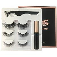 FidgetGear Liquid Eyeliner+3Pairs 3D Magnetic False Eyelashes +Tweezer Set Long Lasting Eyelash Extension Five Magnetic Eyelash Combination