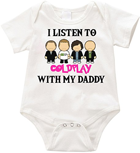 VRW I listen to Coldplay with my daddy Onesie Romper Bodysuit