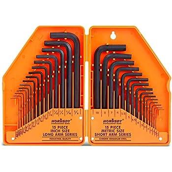 """15pc métrique 1//2 /""""voiture clé Hexagonale Allen Allan clé socket bit set"""