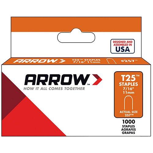 AFC257 - Arrow Fastener ARROW FASTENERS 257 T25 Staple, 7 16quot;, 1,000 pk