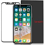 iPhone X Screen Protector, Bersem High Transparency Edge to Edge Premium Tempered 9H Glass Dustfree Case Friendly Screen Protector for Apple iPhone X/iPhone 10